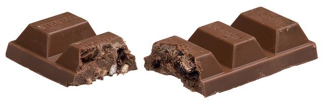 rozpůlená čokoláda