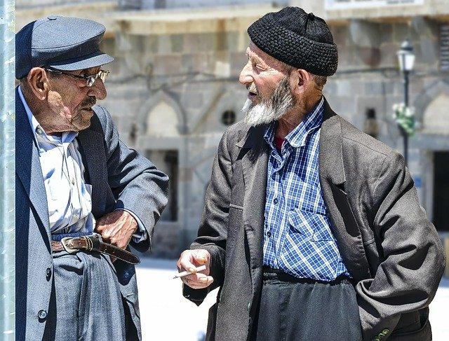 rozhovor starců