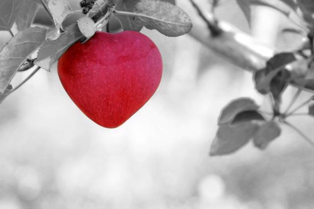 srdcové jablko